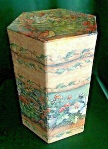 LANG DECORATIVE JAR CANDLE BOX - BOB'S BOXES - HEXAGONAL W/LID -  CHOOSE FROM 5