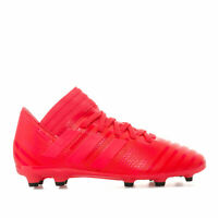 Boys adidas Junior Boys NEMEZIZ 17.3 FG Football Boots in Red - UK 5.5