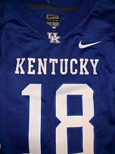 Kentucky Wildcats #18 Nike Football Jersey - Mens NWT Size: Large Blue