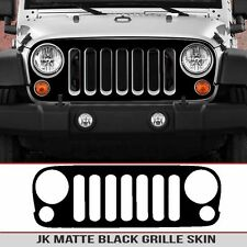 Jeep Grille Skin Matte Black decal die cut Fit JK Wrangler 07-18 Install kit