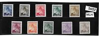 MLH complete stamp set / B a M WWII Occupation / Linden Leaves / Third Reich