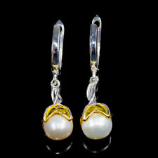 Masterpiece SET Natural Pearl 925 Sterling Silver Earrings Size /E36640