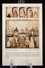 Postcard Shelburne Museum English Dolls Vermont