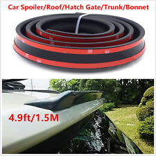 4.5ft/1.5M Universal PU Car Trunk Lip Spoiler/Roof Spoiler Body Kit Trim Sticker