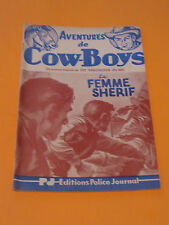 1950's PULP AVENTURES DE COW-BOYS #366 EDITIONS POLICE JOURNAL FREE SHIPPING