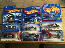 1/64th Diecast cars, Hot Wheels, Matchbox, bikes, six pack of motorcycles #14