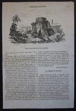 1838 VIEW REGGIO CALABRIA xylograph Cosmorama pictorial