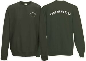 Fishing club Sweatshirt with customised logo! Rear text also available! Design 4