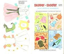 Vintage 1964 Skipper Skooter Paper Dolls ~Rare Cute~ Uncut Laser Reproduction