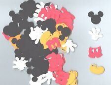 120 Mickey Mouse Die Cuts, Mickey Mouse Confetti Die Cuts