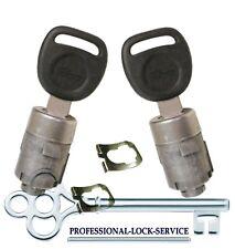 Silverado Sierra 02-06 (Some 01 & 07) Door Lock Key Cylinder Pair Tumbler 2 Keys