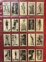 1939 MURRAY's CIGARETTES BATHING BELLES FULL 40 CARD SET-PIN UP CARDS-NRMINT-WOW