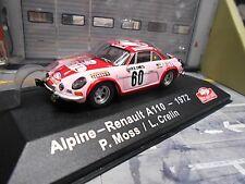 RENAULT Alpine A110 Rallye Monte Carlo 1972 #60 Moss RTL Esso IXO Altaya 1:43