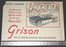 BUVARD 1950 GRISON ENTRETIEN CHAUSSURES AUTOMOBILE AUTO VEDETTE REGENCE