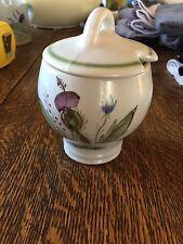 Buchan Scotland Portobello Thistleware Jam Honey Sugar Jar Covered #218