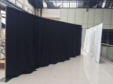 QUICK BACKDROP KIT 10 FT TALL x 20 FT  WIDE PIPE WITH DRAPE(BLACK DRAPE)