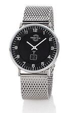 Funk Armbanduhr Herren Uhr Funkuhr Silber Armband Advanced Flach Master Time