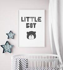 "Scandinavian Art Print / Picture For Boys Nursery Bedroom Room ""Little Boy"""