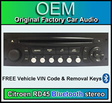 Citroen C3 Bluetooth car stereo, Citroen RD45 Bluetooth, Screen, Mic, Vin Code