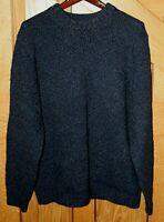 L.L. Bean Men's Crew Neck Sweater Size XL-REG Dark Blue 100% Lambs' Wool