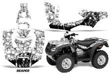ATV Decal Graphics Kit Quad Wrap For Honda FourTrax Rincon 2006-2018 REAPER WHT