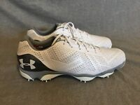 NEW $220 Under Armour UA DRIVE ONE Golf Shoes White JORDAN SPIETH 1267756 104
