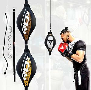 RDX Boxbirne Speedball Boxen Punchingball Leder Doppelendball Double End Hak DE