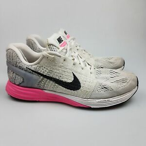 Women's NIKE 'Lunarglide 7' Sz 9.5 US Runners White VGCon   3+ Extra 10% Off