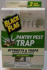 Nwt Black Flag 2Ct Pantry Pest Control Attracts & Traps Moths and Other Pests B3