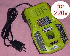 Ryobi One+ P117 18v Dual Chemistry Charger 220v 240v EU Schuko Plug