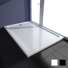 vidaXL Receveur de Douche à Poser ABS Salle de Bain Blanc/Noir Multi-taille