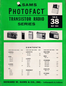 Sams Transistor Service Manual TSM 38 Early Bound Photofacts Free Shipping