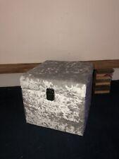 Extra large crushed velvet storage box