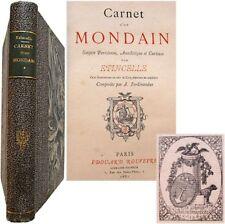 Carnet d'un mondain gazette parisienne anecdotique 1881 Etincelle Ferdinandus