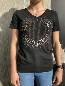 Harley-Davidson® Ladie's Black Emit Sparkle T-Shirt Top Lancashire England XL