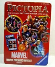 Marvel Pictopia Trivia Card Game  Ravensburger New in 3D tin