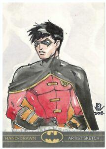 DC Comics Batman: The Legend Sketch Card of Robin - Cryptozoic 2012