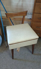 Mid century seating sewing box with original tag still attached