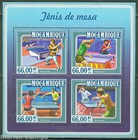 MOZAMBIQUE 2015 TABLE TENNIS (PING PONG)  SHEET  MINT  NH