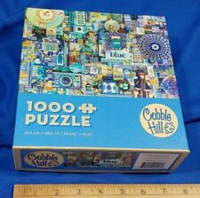 Cobble Hill BLUE 1000 Piece Jigsaw Puzzle SHELLEY DAVIES Art Complete VTG