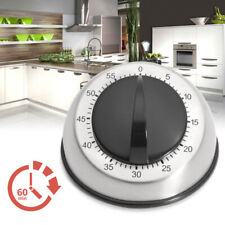 Durable Stainless Steel Kitchen Cooking Timer 60MINUTE Long Ring Bell Alarm Loud