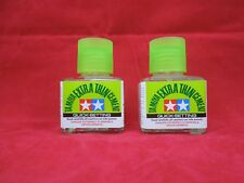 (2) TAMIYA 87182 Extra Thin QUICK SETTING CEMENT PLASTIC MODEL GLUE 40 ml 2 PACK