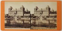 Italia Torino Castello Del Valentino Foto Grogi Stereo Vintage Albumina c1875