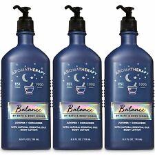 3 Bath & Body Works Aromatherapy Balance Juniper Coriander Body Lotions Set