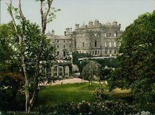 Ayr. Gulzean Castle. Vintage photochrome, England photochromie, vintage photoc