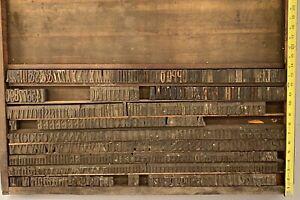 Vintage Lot Letterpress Print Type Wood Blocks Letters Numbers 440+ Pcs NoRes#10