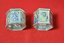 Silver serviette rings hexagon shaped - Chinese Silver (PM)