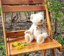 Artist beige classic handmade growling bear. Mohair teddy bear 13 in