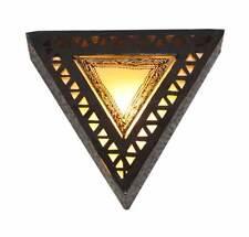 Cortina de lámpara de pared de Henna llano con triángulo perforado Hierro-Amarillo-W35 H35 D15 Cm