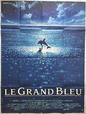 Affiche LE GRAND BLEU Jean-Marc Barr LUC BESSON Jean Reno 120x160cm
